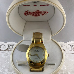 Rawlings Watch with Unique Baseball Clamshell Box